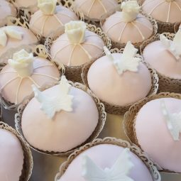 Cup cake witte deco
