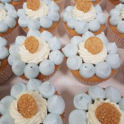 Cup cake blauw