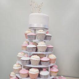 Cup cake bruidstaart