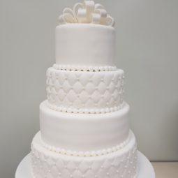 Klassieke bruidstaart