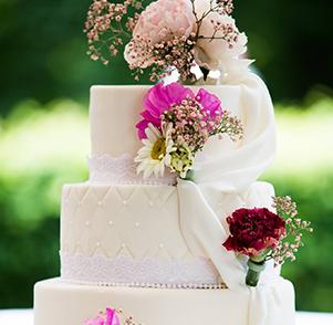 Moderne bruidstaart
