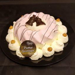 Aardbei dessert pudding
