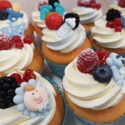 Cup cake vers fruit