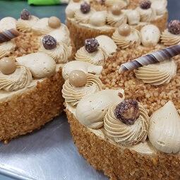 Mokkaschuim taart
