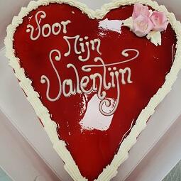 Hartjestaart valentijnsdag